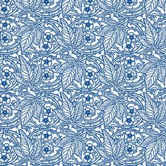 Blue Bramble Rose fabric by amyvail on Spoonflower - custom fabric.  Designed 7/14/14.