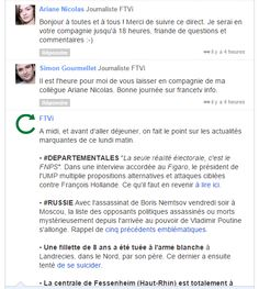 France TV Info et son relais façon radio entre les journalistes chargés du live