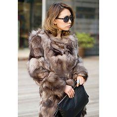 Pitkähihainen Kaulukseton Fox Fur Party / Vapaa-ajan takki - EUR € 577.49
