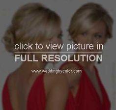 bridesmaid w/ long hair