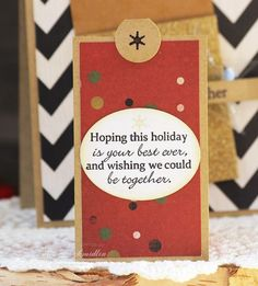 Brother Holiday Card (detail) by Laurie Schmidlin - Created using the new Gina K Fabulous Holiday Fillers set (illustrated by Melanie Muenchinger)