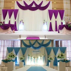 Wedding Stage Satin Curtain Backdrop Fabric Party Celebration Background Drape w. Wedding Stage Satin Curtain Backdrop Fabric Party Celebration Background Drape w. Wedding Decoration Supplies, Wedding Stage Decorations, Backdrop Decorations, Backdrops, Backdrop Ideas, Satin Curtains, Curtain Fabric, Celebration Background, Wedding Reception Backdrop
