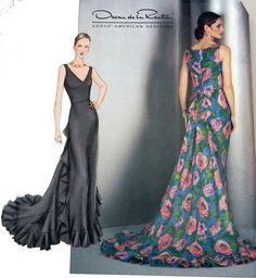 Vogue 2541  Oscar de la Renta Gown sewing by retroactivefuture, $15.00