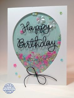 Stamp with Sandy: Birthday Balloon Shaker Card