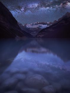 Milky Way over Lake Louise by Rick Rose on 500px