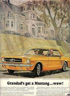 Classic Mustang Ad #mustangvintagecars