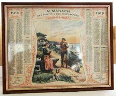 1919 Vintage French Antique Almanach Calandar des by chezvivianne, $16.00