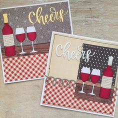 card winde drink drinks bottle glass MFT Wine service Die-namics #mftstamps scripty cheers Die-namics LindaCrea: Cheers #3 Birthday Cards For Women, Handmade Birthday Cards, Wedding Anniversary Cards, Friendship Cards, Beautiful Handmade Cards, Marianne Design, Card Tags, Cool Cards, Stampin Up Cards