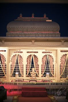 Mandap @ Chunda Palace was set up for Shri and Sonal