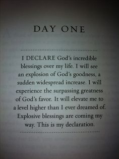 """I Declare"" by Joel Osteen.  I have this book and read a day everyday."