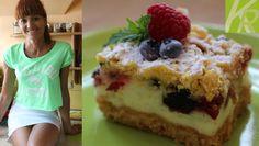 Ciasto z pianką i owocami leśnymi [KuchniaRenaty] Mousse Dessert, Polish Recipes, Polish Food, Tiramisu, Dessert Recipes, Desserts, Waffles, Pie, Baking