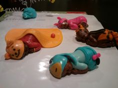 Pooh Tigger Eeyore and Piglet with the baby mold. Then dressed