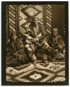 Navajo Man and Women by William Pennington of Durango Colorado C 1907