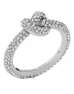 Jewellery & Accessories | New Arrivals | Silver Tone Clear Pave Small Knot Ring | Hudson's Bay
