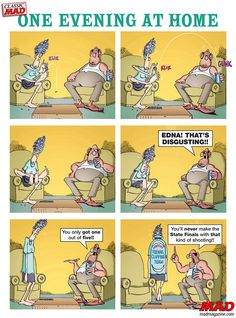 Don Martin: One Evening at Home #mad #magazine #donmartin