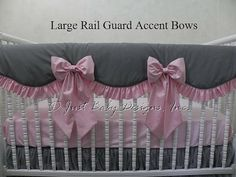 Items similar to Large Accent Bows for Scalloped Rail Guards - Nursery Bedding, Crib Bedding Accessories on Etsy Nursery Bedding, Bedding Sets, Nursery Monogram, Rail Guard, Custom Baby Bedding, Baby Design, Cribs, Bows, Teething