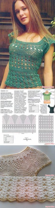Vară de top croșetat - tricotat - Țara Mamă
