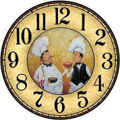поварята Clock Art, Diy Clock, Clock Decor, Clock Tattoo Design, Wall Clock Design, Paper Napkins For Decoupage, Decoupage Vintage, Blank Clock Faces, Clock Face Printable