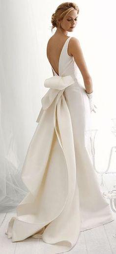 Hermoso vestido con lazo #Vestidos #Bodas #Novias #Lazos