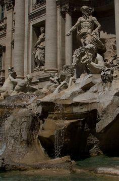 Trevi Fountain Detail, Roma  Italy