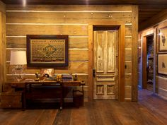 These doors were used throughout the lodge...they were 7ft, solid wood doors from Indiana.