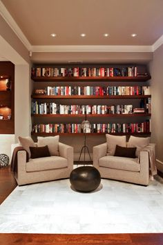 Reading nook. contemporary basement by moment design + productions, llc