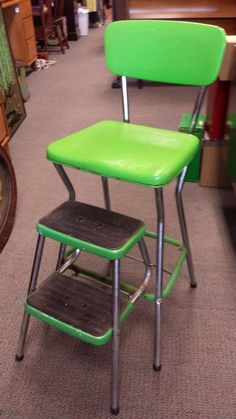 Vintage Lime Green Cosco Stool!
