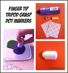 Fingertip Tripod Grip Dot Markers - Pinned by @PediaStaff – Please Visit  ht.ly/63sNt for all our pediatric therapy pins