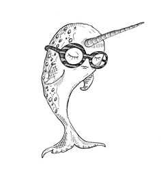 hipster narwhal; wannabe unicorn