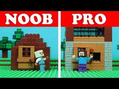 My first take on Noob vs Pro Videos. First Night House Block Building out Lego Challange. Minecraft Brick, Lego Minecraft, Minecraft Houses, Brick Building, Building A House, Pagani Huayra, First Night, Legos, Challenges