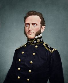 Thomas Stonewall Jackson c.1848-1860. (Colorized Photo).