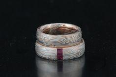 Unikalne mokume-gane zaręczynowe i obrączki ślubne od projektanta Jamesa Binnion. - Unikalne Mokume obrączki i pierścionki zobowiązania Jim Binnion