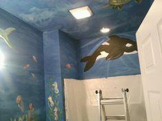 Underwater Bathroom Mural