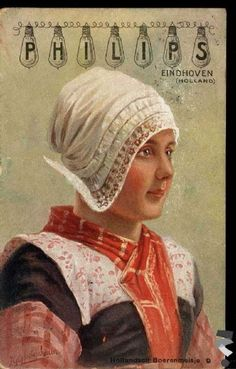 Bunschoten Spakenburg. Philips postcard **use rectangle of fabric, pleat and gather slightly up the back add lace :)