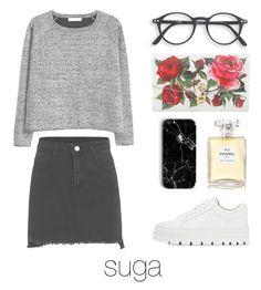 """Valentine's Day with BTS"" by mazera-kor on Polyvore featuring мода, MM6 Maison Margiela, MANGO, Dolce&Gabbana, Chanel, bts, Suga и yoongi"