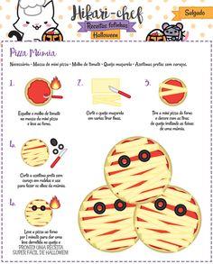 Fazer uma pizza múmia é muito fácil! A Hikari Chef te ensina como!!