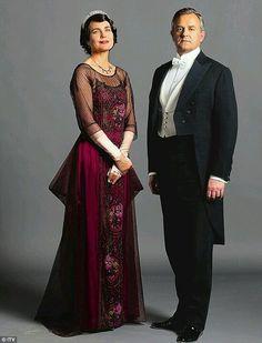 Downton Abbey costumes - Cora and Robert Crawley.