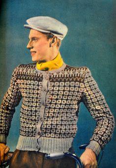 Husmorsskolan: En hommage till Västmanland! Retro Fashion, Vintage Fashion, Mens Fashion, Vintage Men, Retro Vintage, Vintage Style, Fair Isle Knitting Patterns, Icelandic Sweaters, Vintage Knitting