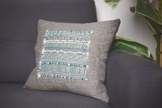 DIY Embroidered Cushion