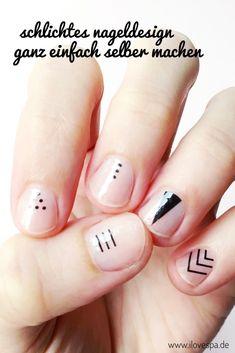 Schlichtes Nageldesign selber machen - Natürliche Maniküre für kurze Nägel :)
