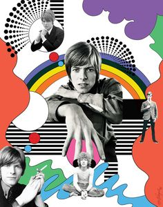 Can't Help Thinking About Me - The Pye SIngles, David Bowie Art by Maia Valenzuela David Bowie Meme, David Bowie Tribute, David Bowie Art, Ziggy Stardust, Graphic Design Illustration, Illustration Art, 60s Art, Mick Ronson, Cool Posters