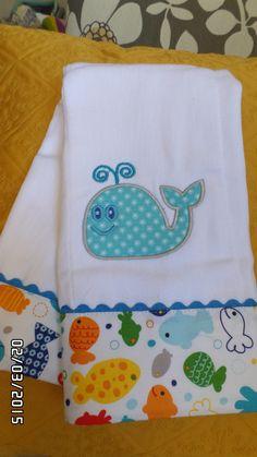 paño 100% algodon para bebe. Decorados en tela y bordado en aplicaciones en maquina de bordar