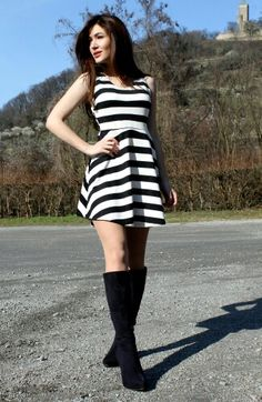 Fashion ideas and inspiration, chic way to wear knee high boots : Https://sajuza.wordpress.com