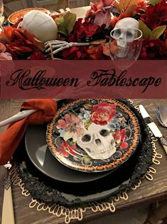 How to Style a Floral Table for Halloween - Celebrate & Decorate Halloween Festival, Halloween Season, Halloween Table, Halloween Decorations, Tall Candle Holders, Bone Color, Rust Orange, Faux Flowers, Home