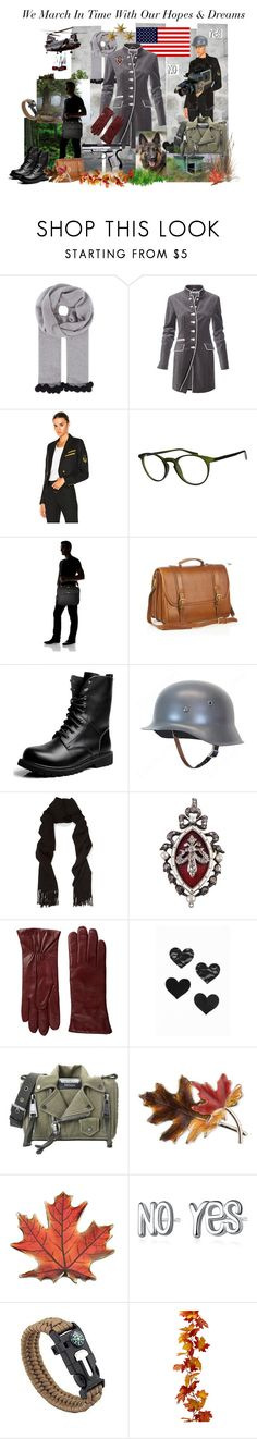 """We March in Time With Our Hopes & Dreams"" by thesandlappershop ❤ liked on Polyvore featuring Cash Ca, Yves Saint Laurent, Italia Independent, Swat, Eos, Targus, Aston, Acne Studios, Hestra and Bristols6"