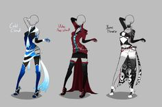 Outfit design - 239 - 241 - closed by LotusLumino on @DeviantArt