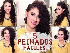 Peinados Fáciles para Cabello Rizado! - YouTube
