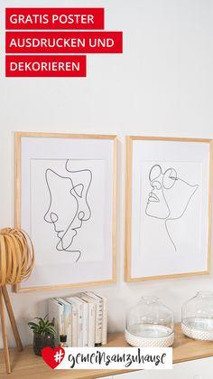 Total im Trend: Minimalistische und abstrakte Kunst für deine Wände.🖤 Im Höffi Magazin stellen wir dir jetzt vier Poster zum kostenlosen Download zur Verfügung. #monoline #einlinien #minimalistisch #abstrakt #kunst #art #poster #printable #gratis #poster #wandkunst #wallart #print #download #kunstdruck #strichzeichnung #wallprint #oneline #modern #minimal #digitaldownload Poster, Home Decor, Stick Figure Drawing, Abstract Art, Minimalist, Art Print, Decorating, Ad Home, Ideas
