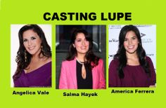 Thomas's new wife Lupe. #angelicavale is the heir of a long dynasty of actresses and she is one of my favorite performers ever. I would love to be responsible to introduce her to the American audiences with this amazing character. #americaferrera though kind of young for the role, can also carry her charm and warmth successfully and of course #salmahayek who doesn't need any introduction or commentary, given her long history as an award winning actress and producer.