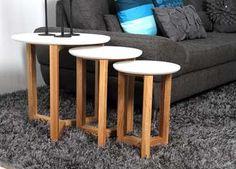 Bijzettafels Sunde Leen Bakker, €116. Grootste tafel heeft een diameter van 50 cm.